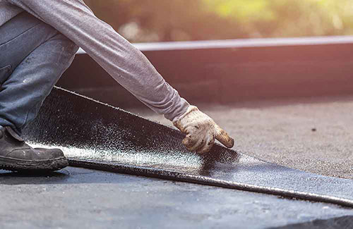 Rubber EPDM Flat Roof Installation t